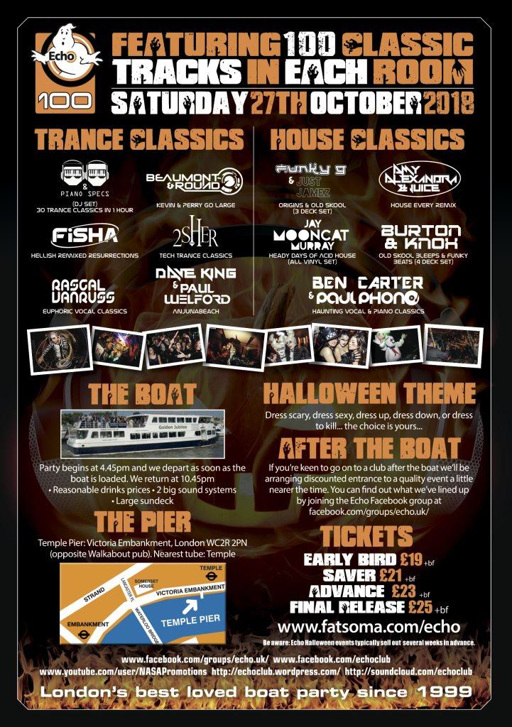 RA: Echo 100: Halloween Classics Boat Party at Golden