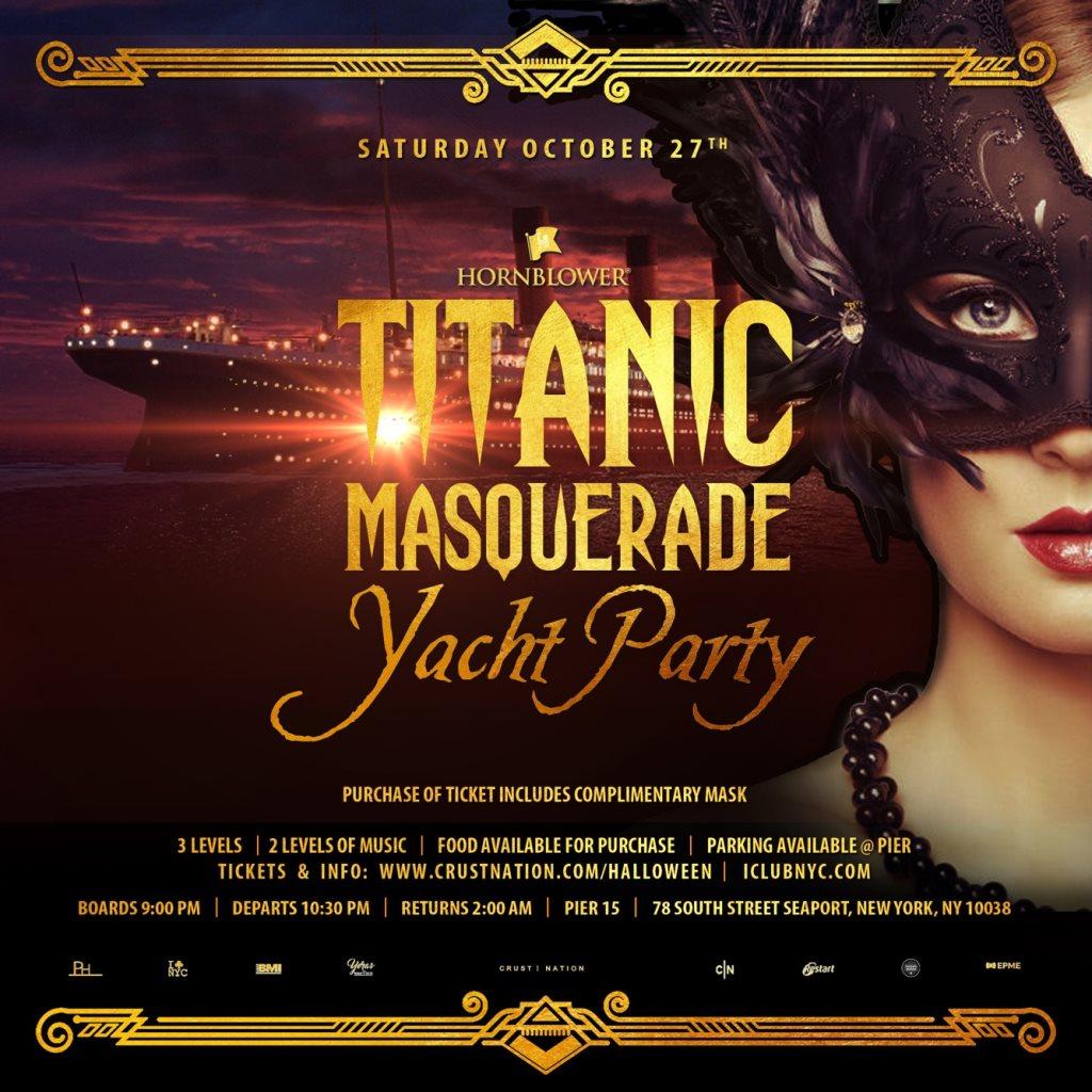 RA: Halloween Titanic Masquerade NYC with Free Mask at
