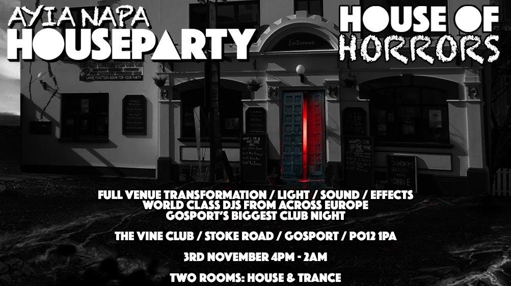 RA: Ayia Napa House Party House Of Horrors The Vine Club