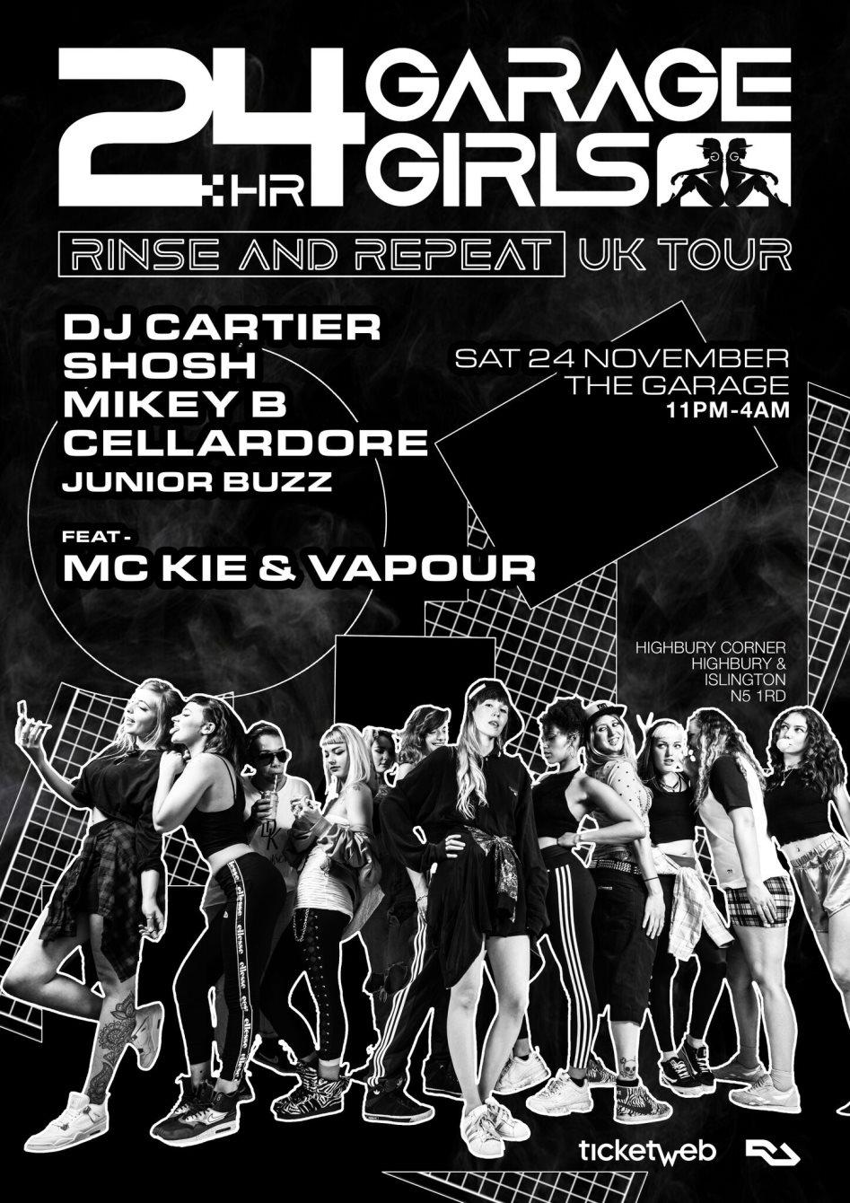 RA: 24hr Garage Girls at The Garage, London (2018)
