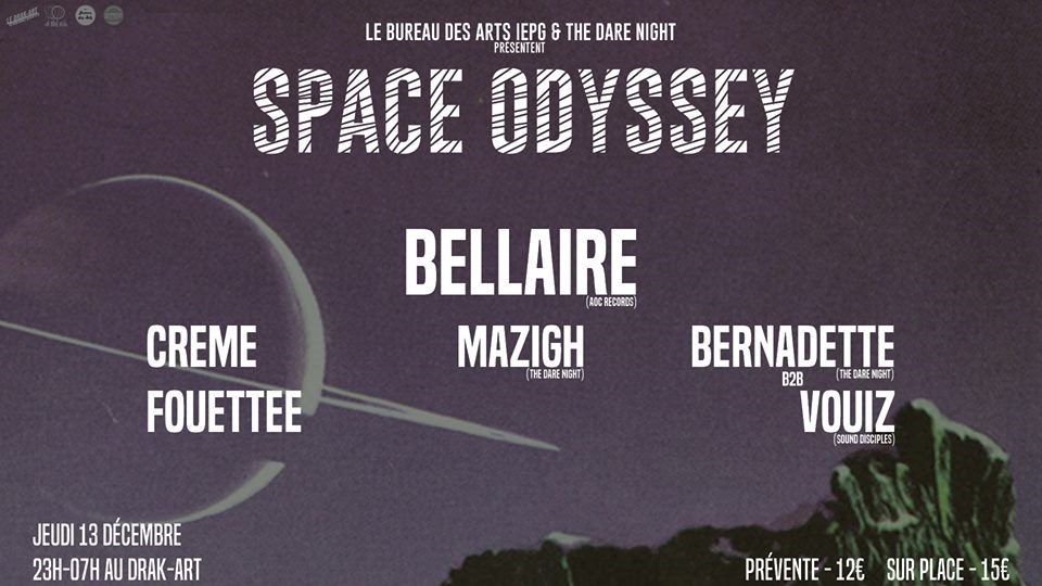 Ra: the dare night & bda iepg présentent space odyssey at le drak
