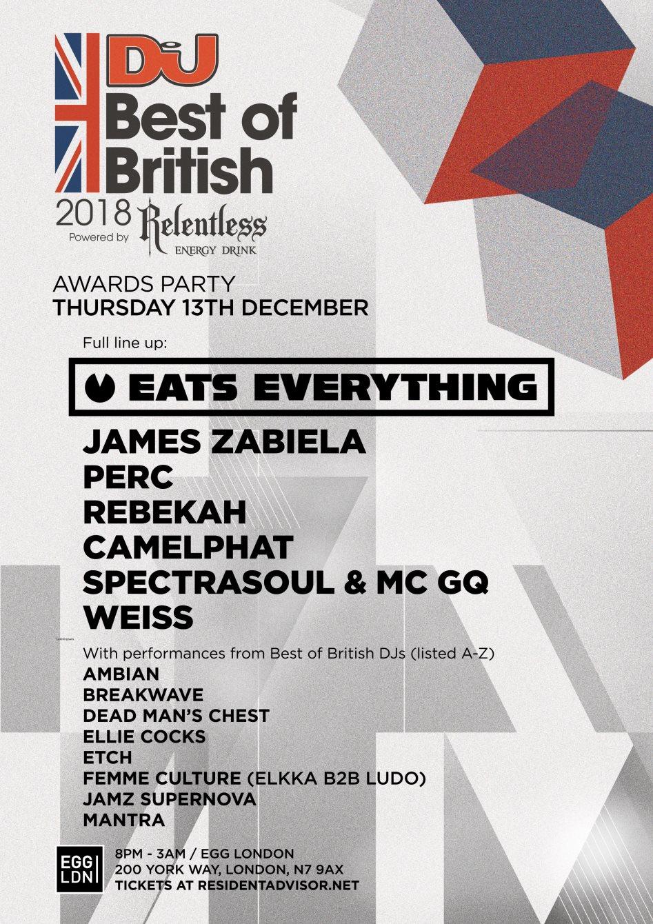DJ Mag – Best of British Awards – Full Line Up
