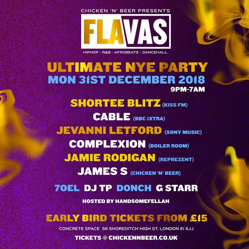 RA: Flavas NYE (RnB, Hip Hop, Dancehall, Afro Beats, Club Classics