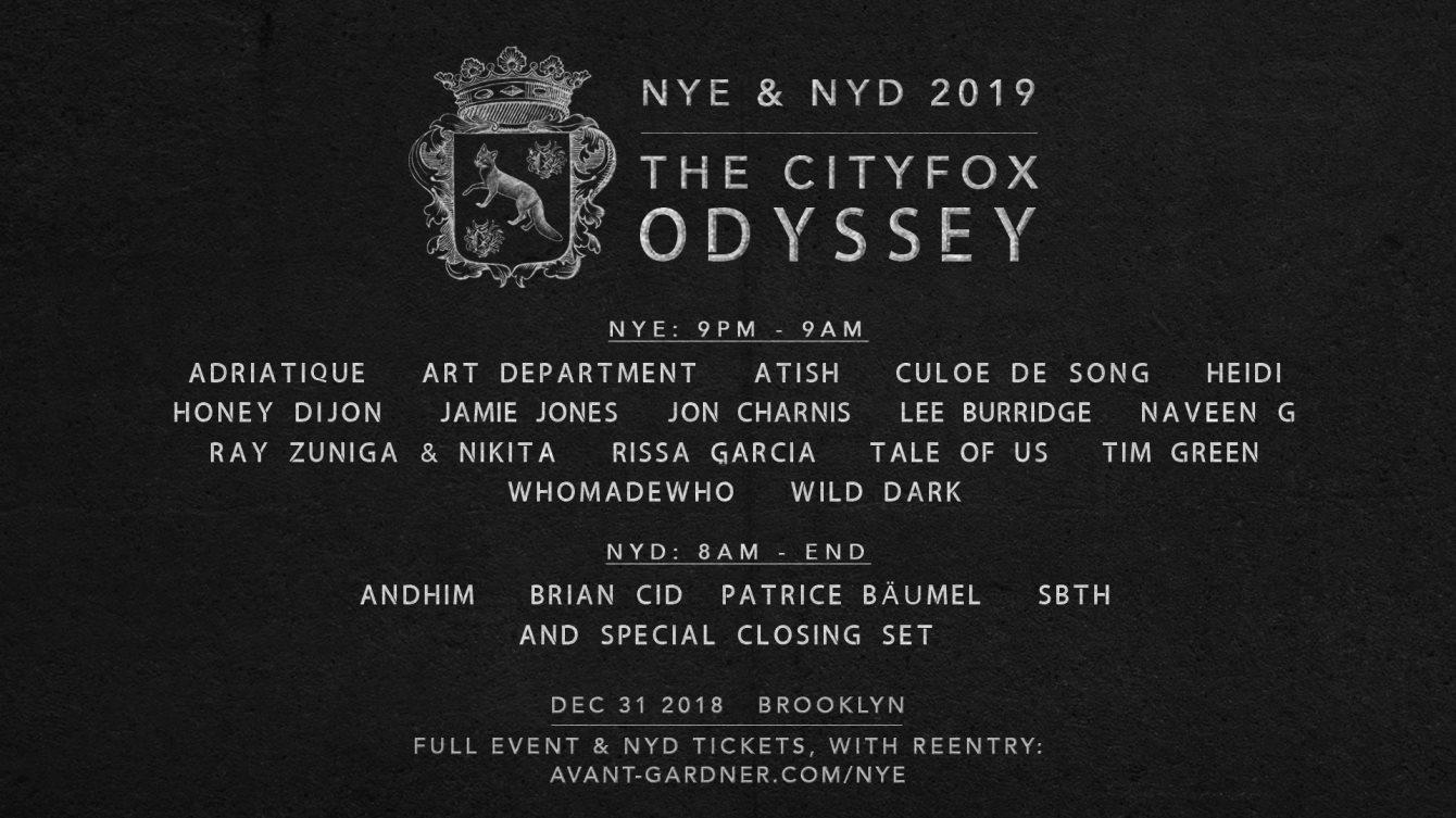 930ef63914 RA  Cityfox Odyssey NYE   NYD  Tale Of Us