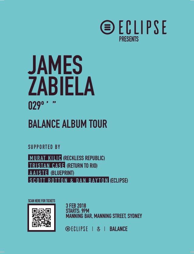 Ra eclipse pres james zabiela balance album tour at manning bar line up james zabiela malvernweather Image collections