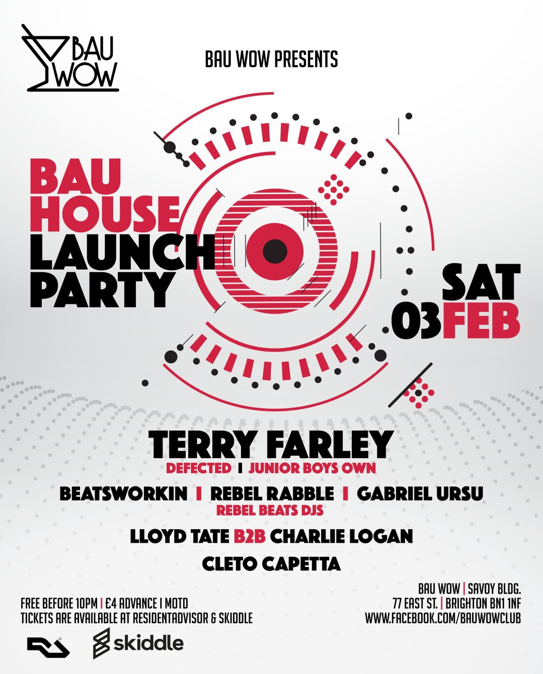 RA: Bau Wow presents: Bau House Launch with Terry Farley at