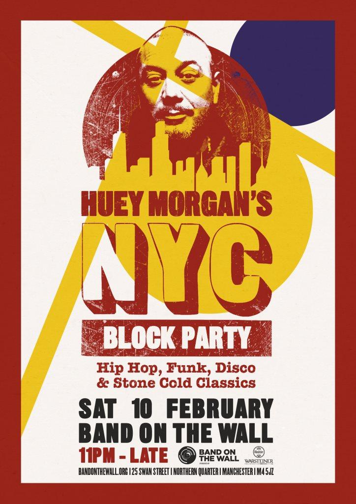 ra huey morgan s nyc block party at band on the wall manchester