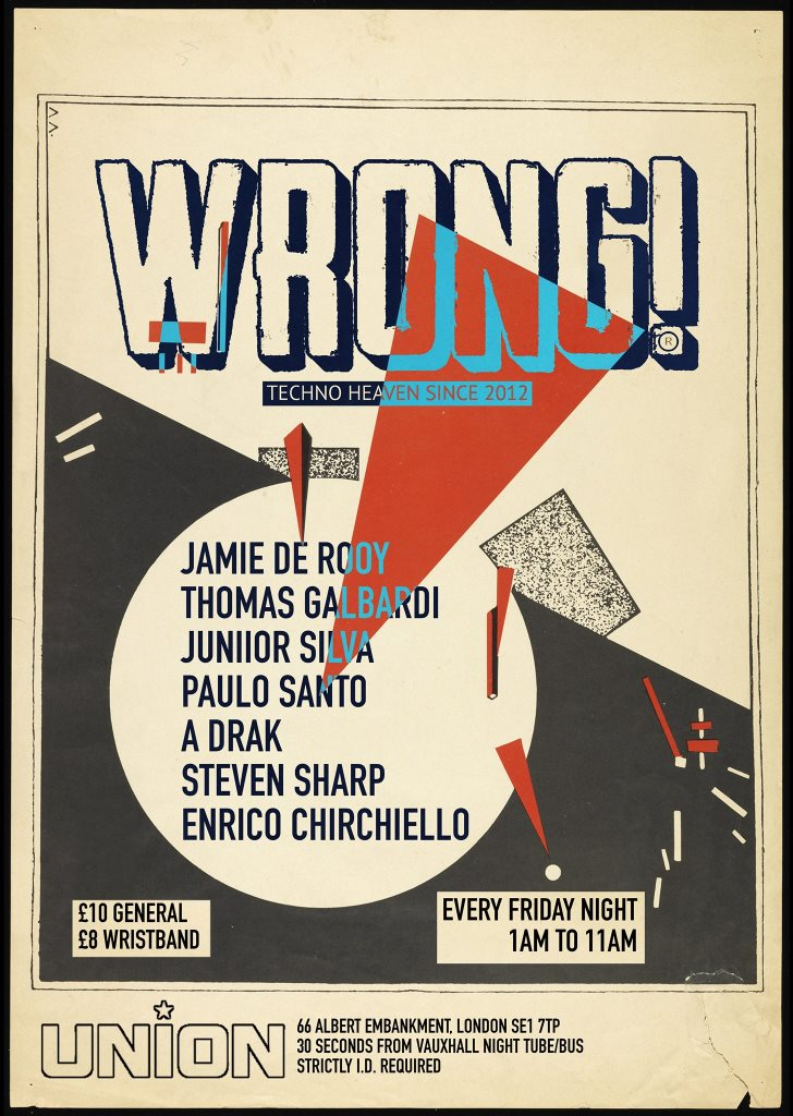 RA: Wrong! Friday Night Afterhours at Union, London (2018)