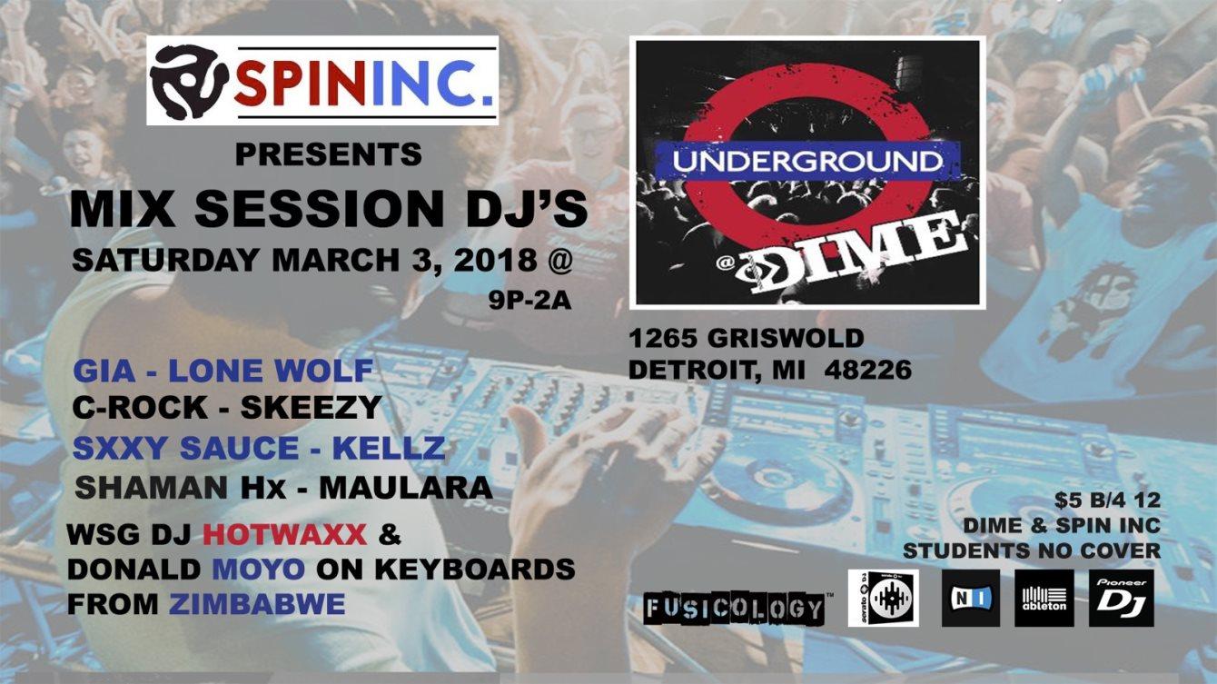 RA: SPININC  presents: MIX Session DJ's wsg DJ Hotwaxx at