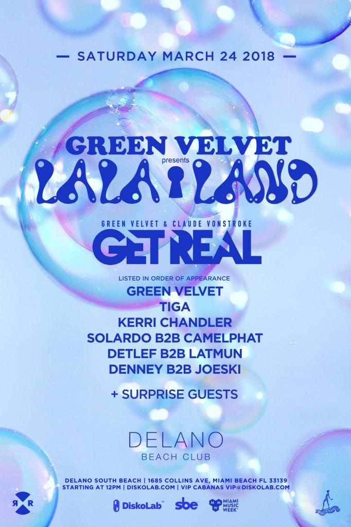 RA: Green Velvet presents: La La Land at Delano Beach Club