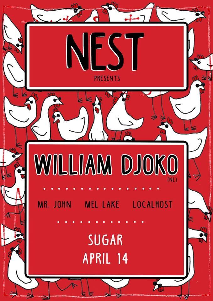 Ra nest presents william djoko at sugar adelaide line up malvernweather Choice Image