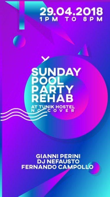 RA: Sunday Rehab Pool Party at Tunik Hostel, Guatemala (2018)
