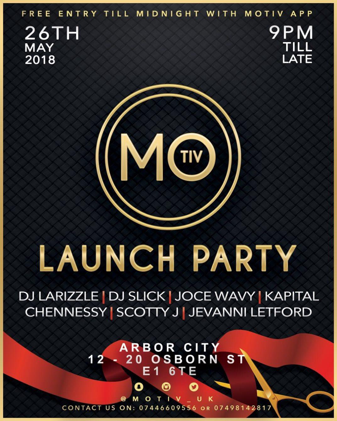 ra motiv uk app launch party at arbor city london
