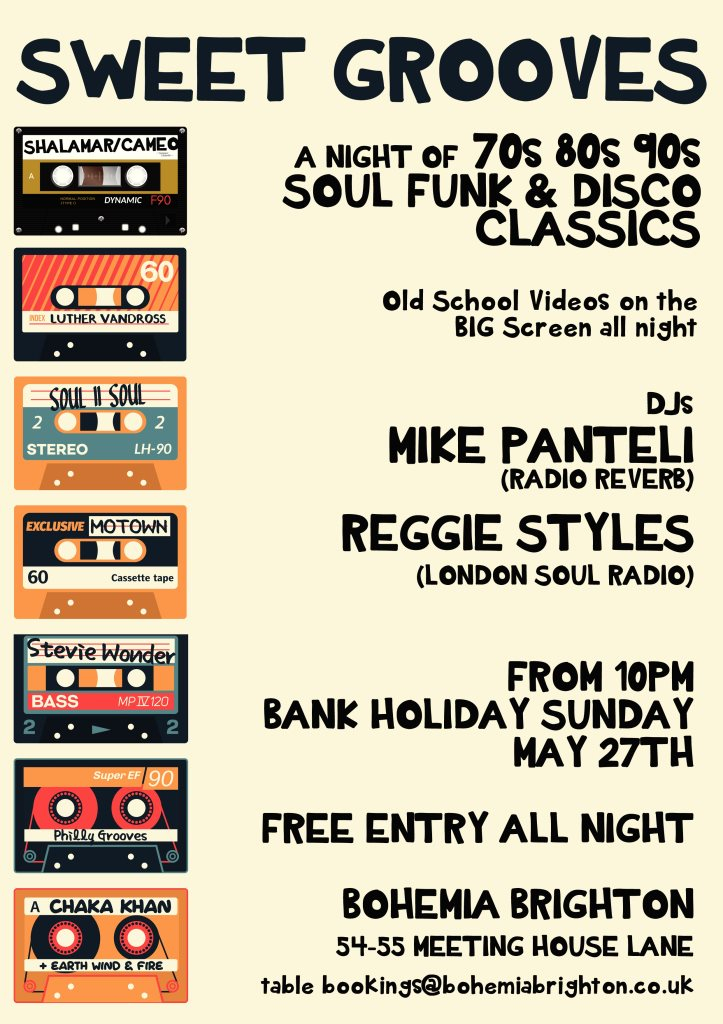RA: Sweet Grooves - A Free Night of Soul Funk & Disco