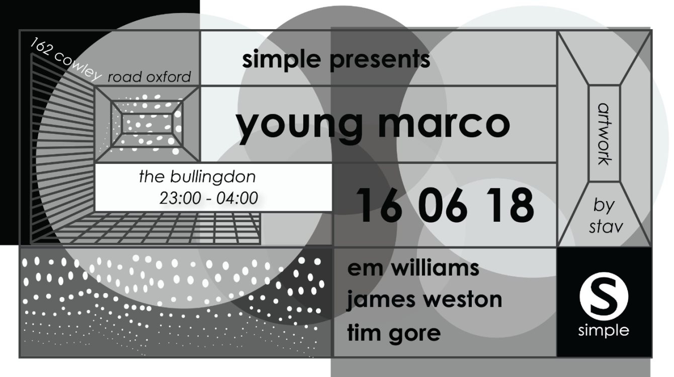 RA: Simple presents Young Marco at The Bullingdon, South + East