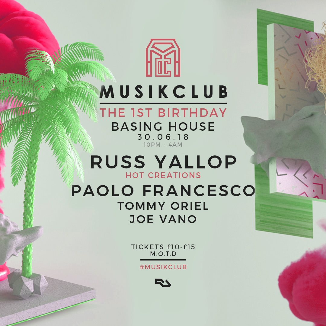 RA Tickets: Musik Club presents Russ Yallop and Paolo Francesco at ...