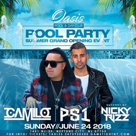 RA: Dj Camilo at Oasis Day Club, New Jersey (2018)