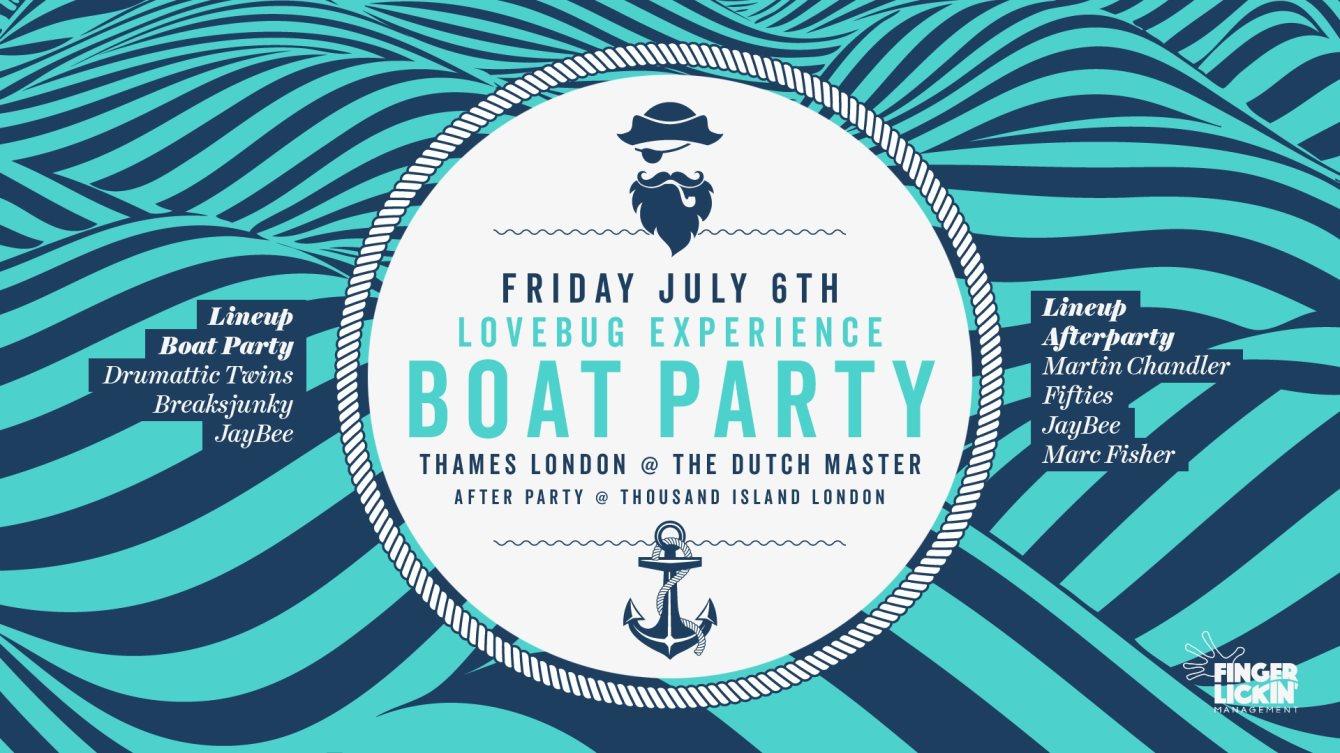 RA: Lovebug Experience Boat Party at The Dutch Master, London (2018)