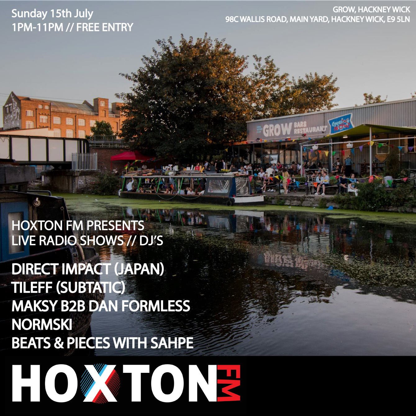 RA: Hoxton FM Daytime Livestream Party Outside Grow at Grow