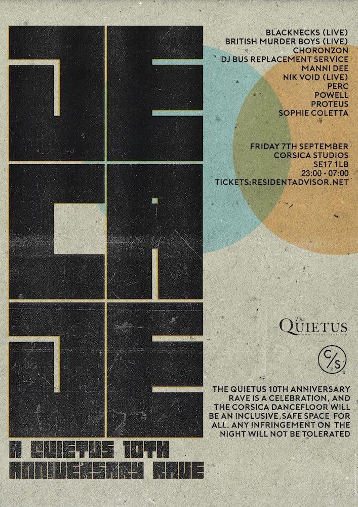 Ra Decade A Quietus 10th Anniversary Rave At Corsica Studios London