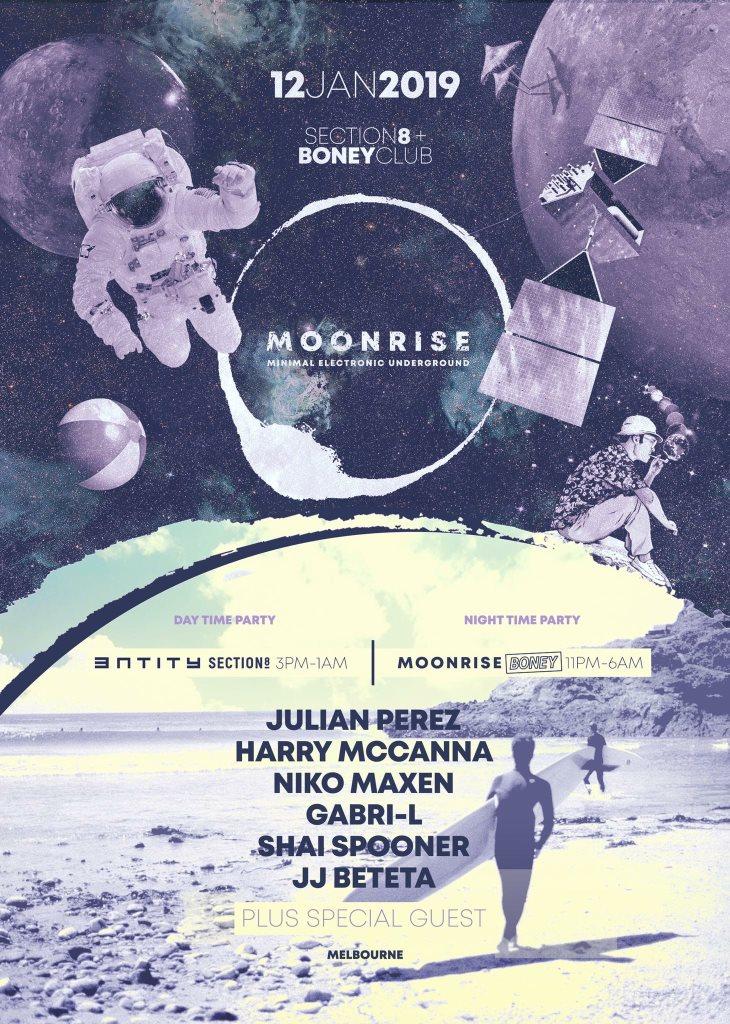 RA: Moonrise 15hr Day/Night Party: Julian Perez, Harry