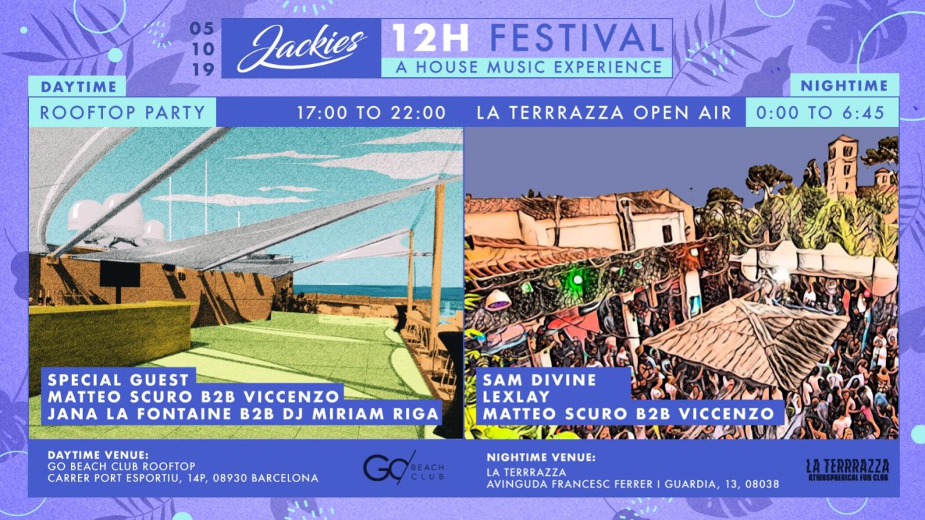 Ra Jackies 12h Festival With Sam Divine Rooftop Go Beach