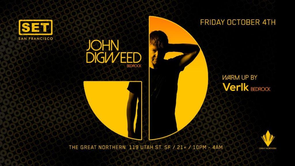 RA Tickets: SET with John Digweed Verlk (Bedrock) at The Great