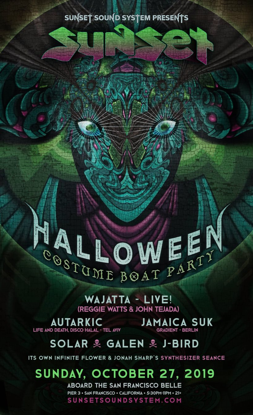 Halloween Boat Party 2020 San Francisco RA: Sunset Sound System Halloween Costume Boat Party 2019 at San