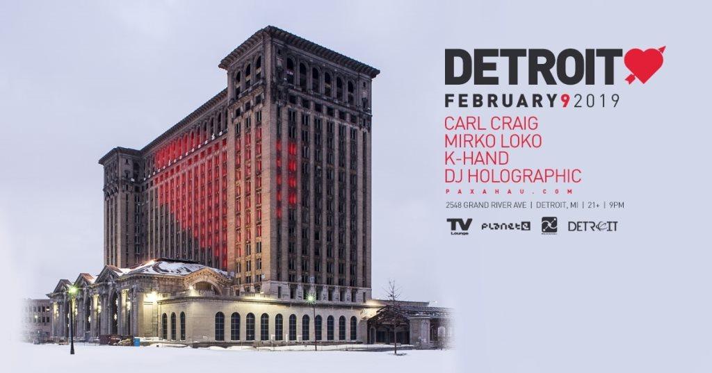 RA: Paxahau presents: Detroit Love at TV Lounge, Detroit