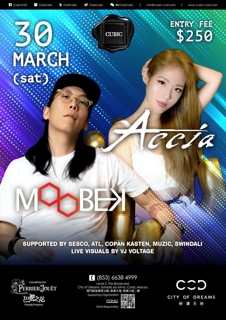 RA: Club Cubic presents DJ Moobek & DJ Accia at Cubic, Macau