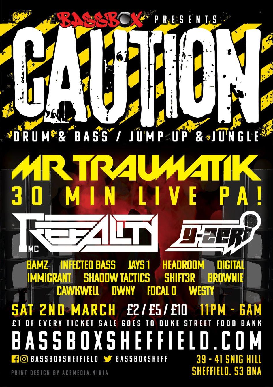 Ra Caution Mr Traumatik 30 Min Live Pa At Bassbox North