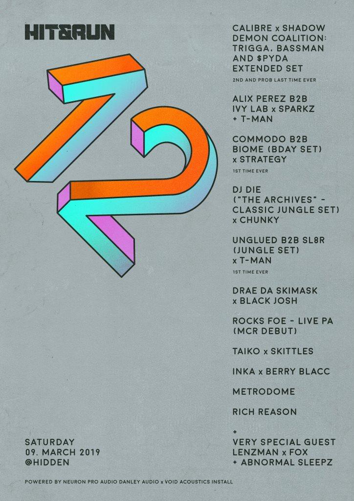 RA: Hit & Run 12th Birthday with Calibre & SDC at Hidden