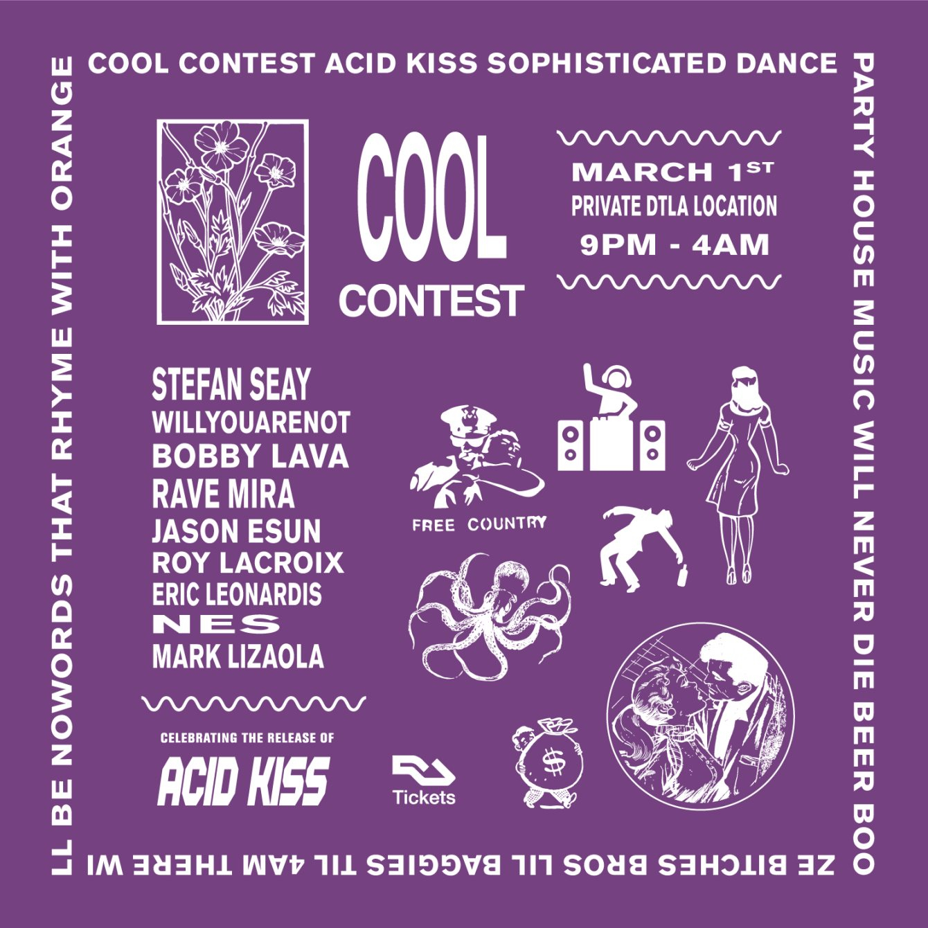 RA: Cool Contest presents: The Acid Kiss EP Release Party at TBA