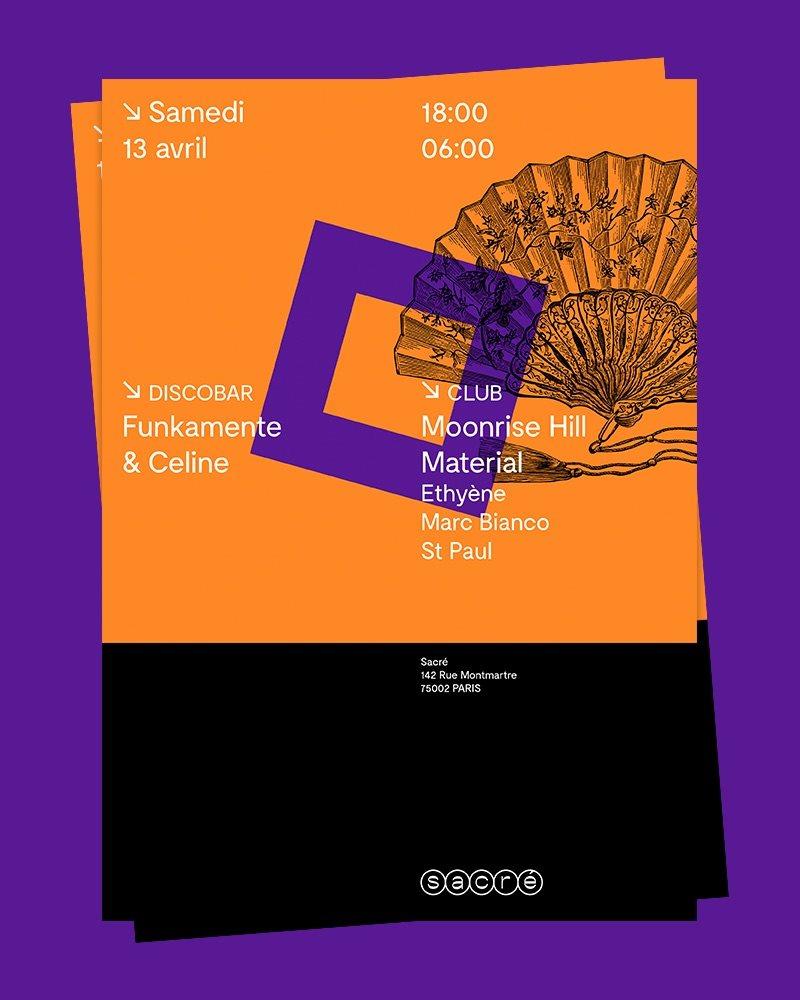 RA: Sacré Moonrise Hill Material & Funkamente at Sacré, Paris