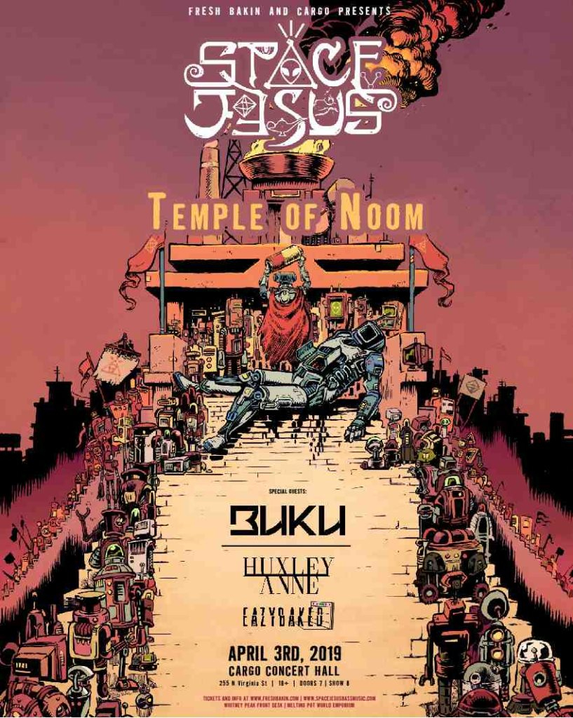 RA: Space Jesus - 'Temple of Noom 2019 Tour' at Cargo, Nevada