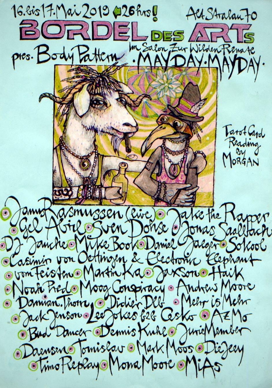 RA: Bordel Des Arts - Mayday Mayday - 26h at Salon Zur