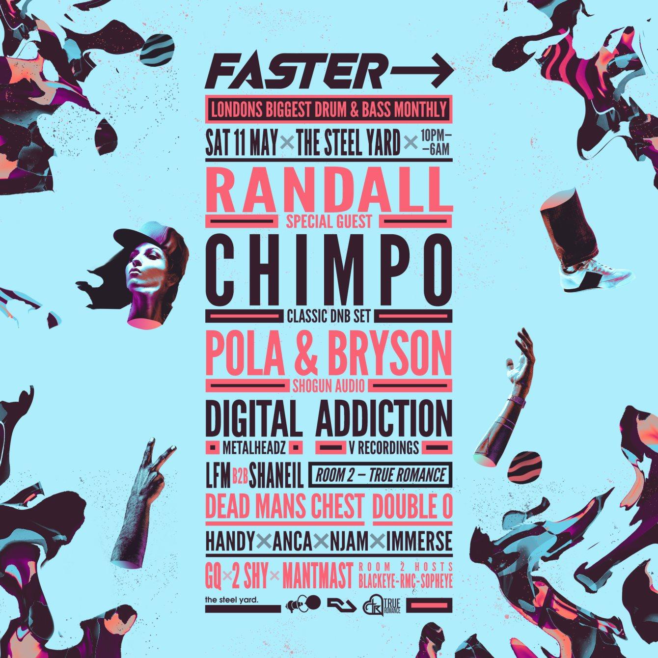 RA: Faster - Randall, Chimpo, Pola & Bryson, Addiction, Digital, MC