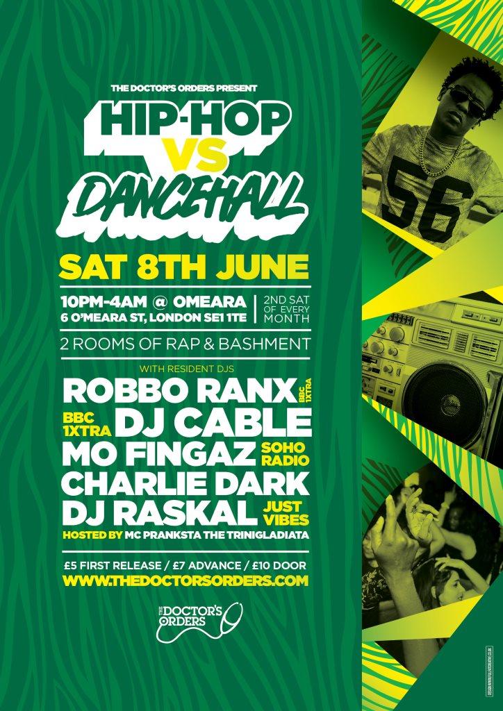RA: Hip-Hop vs Dancehall at Omeara, London