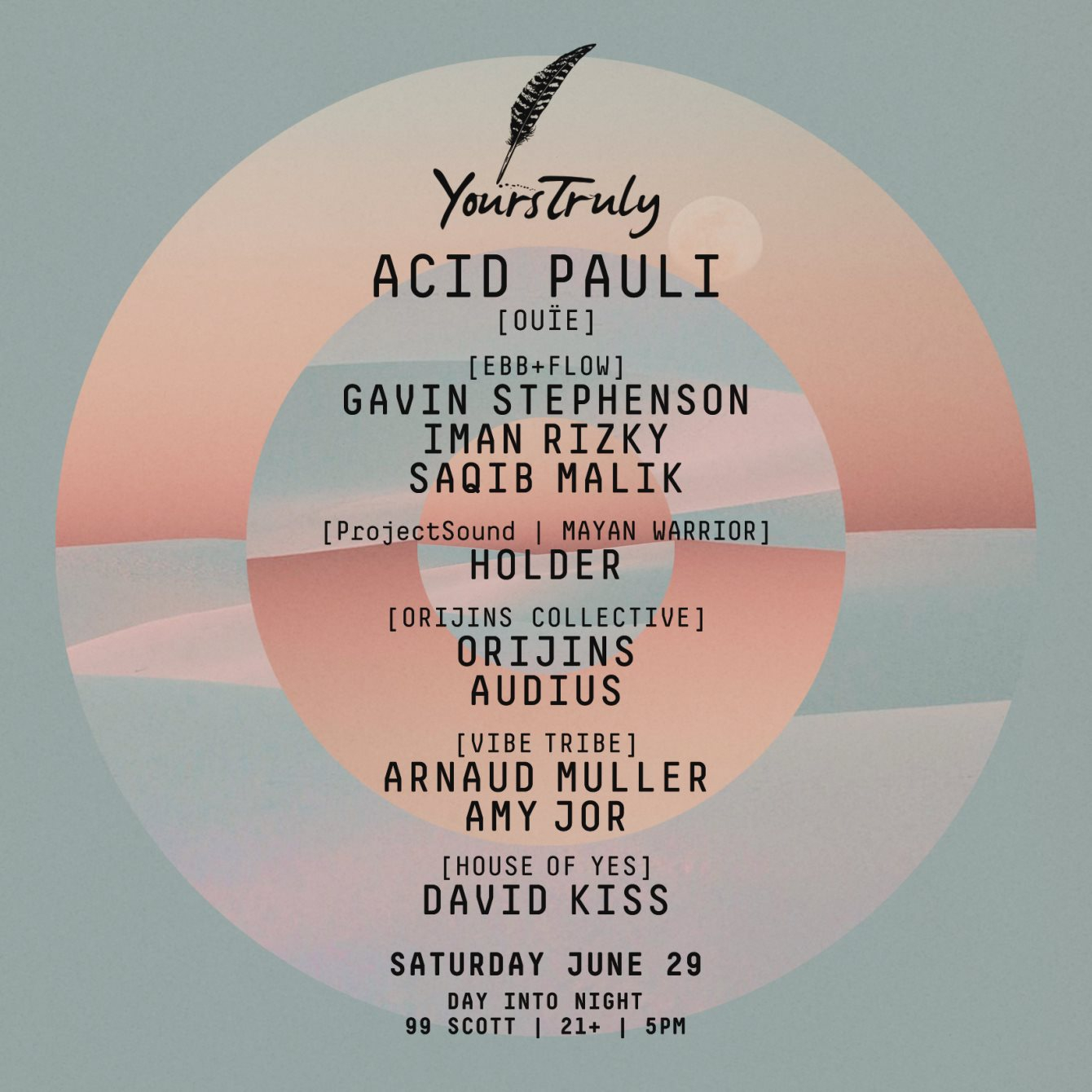 RA: Yours Truly, presents: Acid Pauli + more at 99 Scott Ave, New York