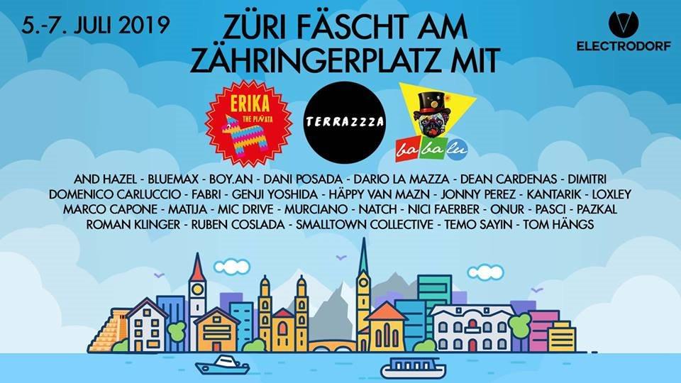 Ra Züri Fäscht Am Zähringerplatz Mit Terrazzza Erika