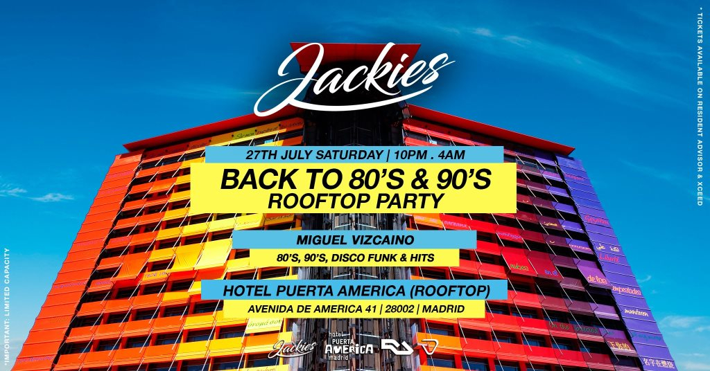 RA: Back to 80' & 90' Rooftop Party - Disco & Funk Music by