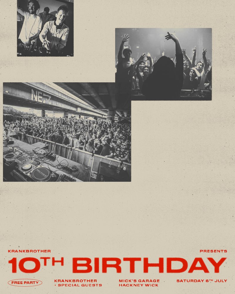RA: krankbrother 10th Birthday Free Party at Mick's Garage