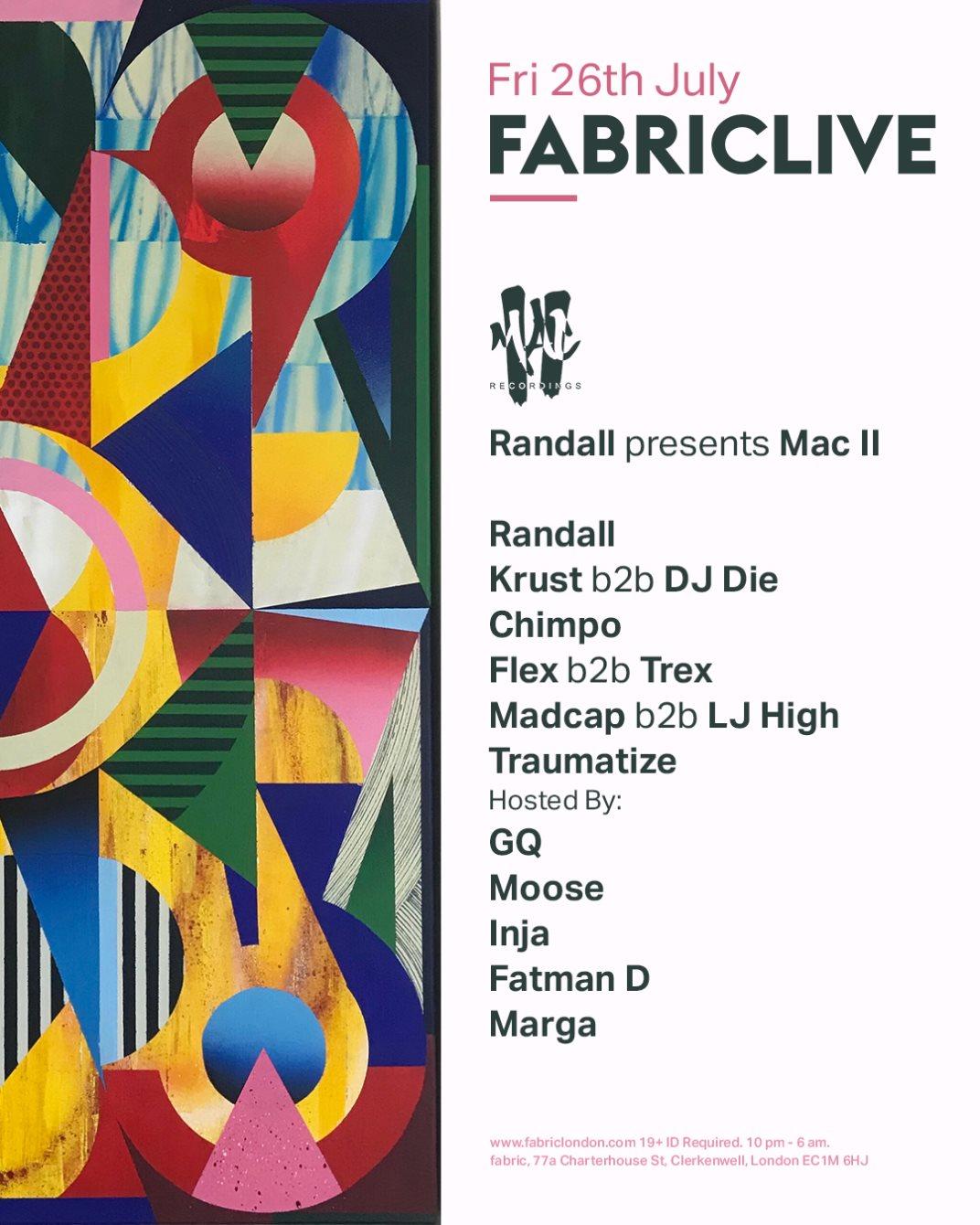 RA: FABRICLIVE x Randall presents Mac II at fabric, London