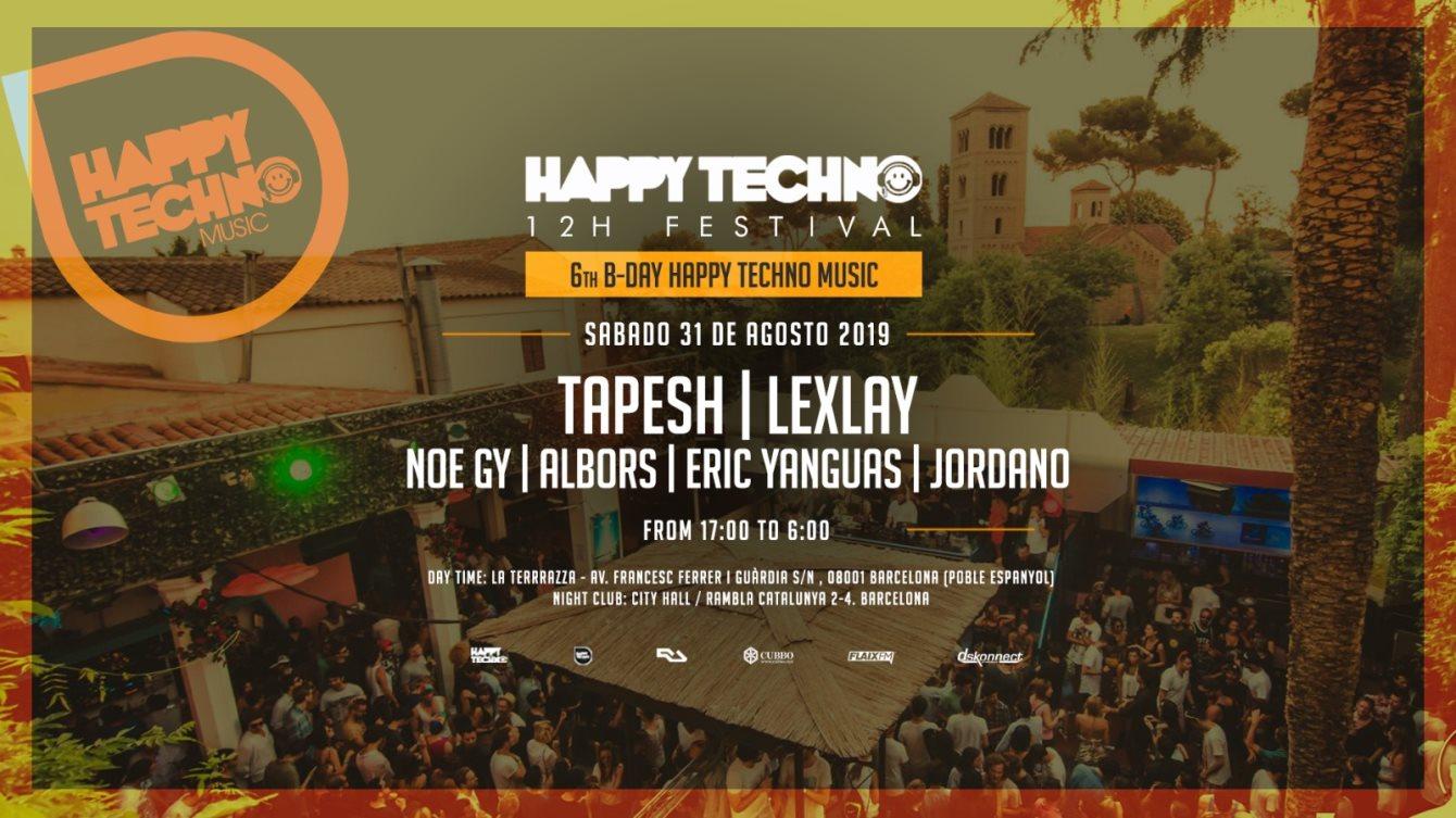 RA: HAPPY TECHNO 12h Festival 6th Bday - La Terrrazza
