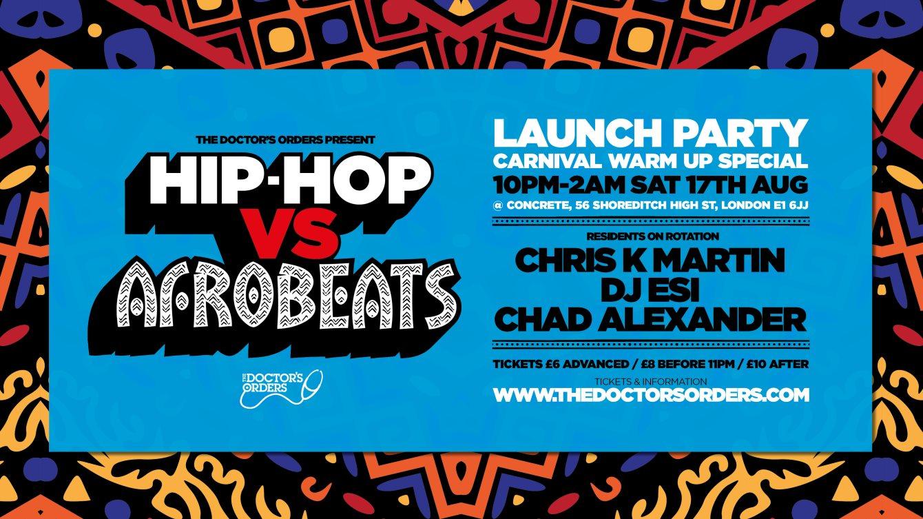 RA: Hip-Hop vs Afrobeats - Carnival Warm Up Special at