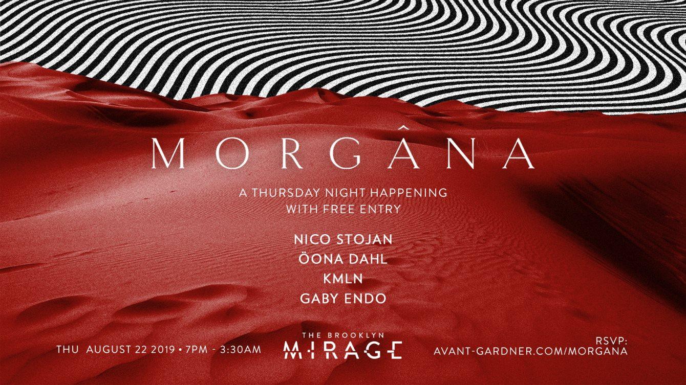 RA: Morgana [free entry]: Nico Stojan, Öona Dahl, KMLN, Gaby