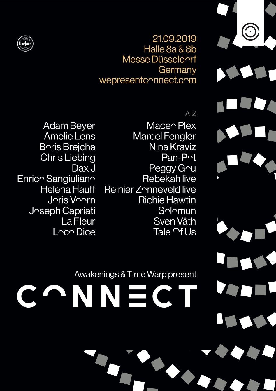 RA: Awakenings & Time Warp present Connect 2019 at Messe Düsseldorf