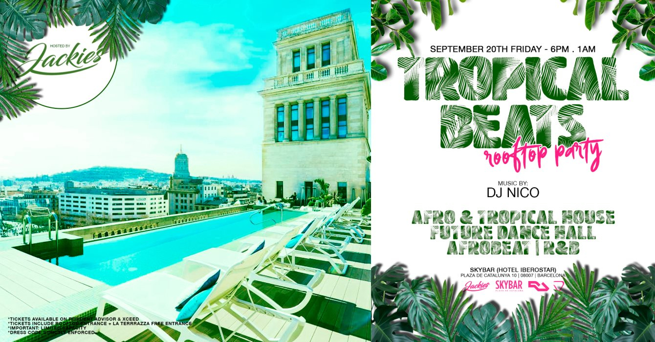Ra Jackies Pres Tropical Beats House Music Rooftop Party