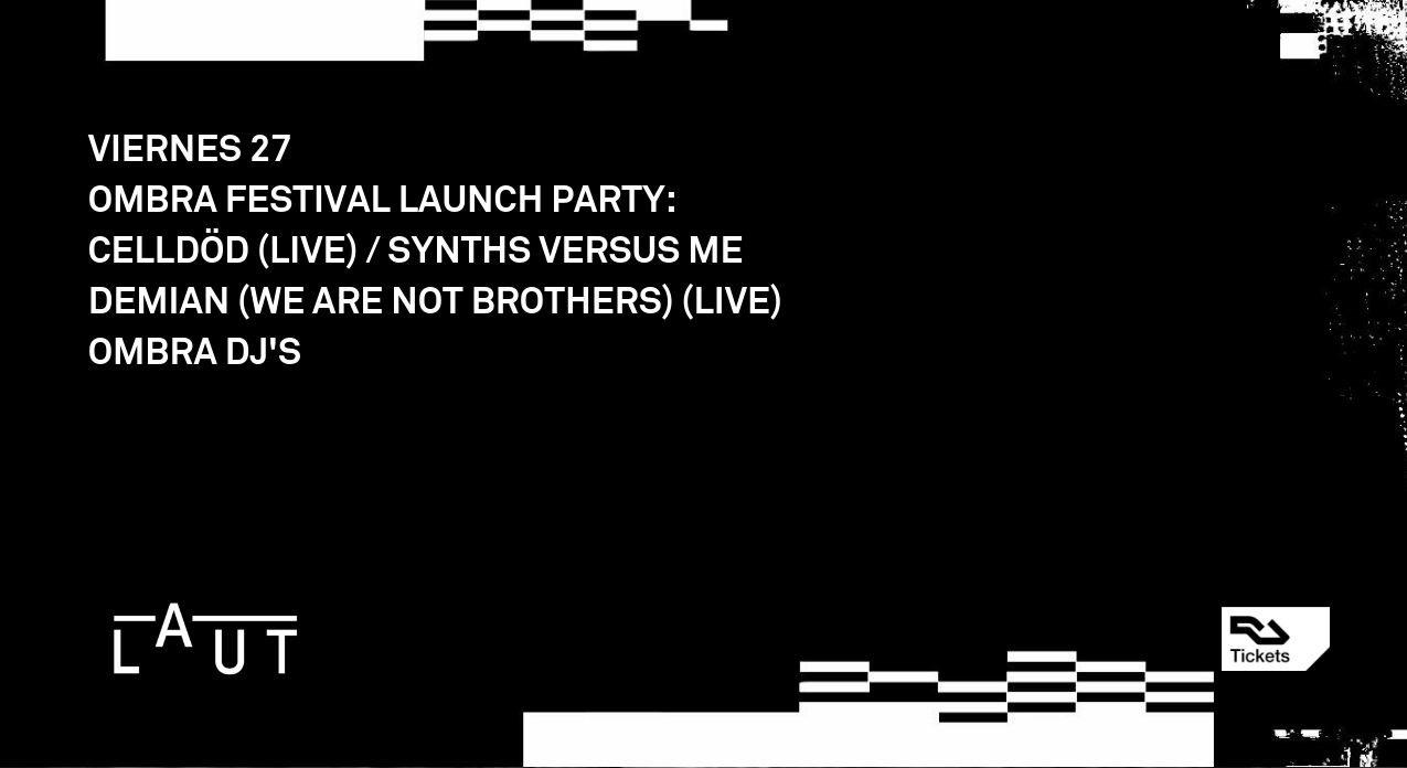 Cartel de la Launch Party del Ombra Festival