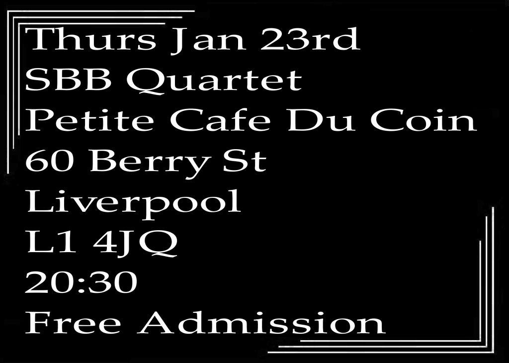 Ra Jazz In Liverpool Speakeasy Bootleg Band Quartet At